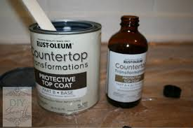 mixing rustoleum countertop transformations apply the protective clear coat