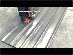 cutting corrugated sheet metal