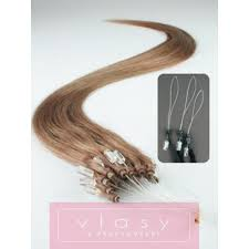 Vlasy Pro Metodu Micro Ring Easy Loop Easy Ring Micro Loop 50cm Světle Hnědé