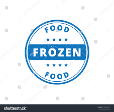 Food Product Label Design Template Circle Frozen Food Product Label Grunge Stock Vector