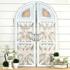 arched wood shutter wall decor
