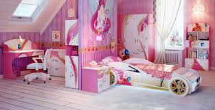 Amazing Pink Cute Girls Bedroom Ideas With Cool Car Shape Bed And White  Butterfly Chandeliers Mix ...