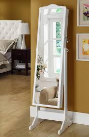 floor white jewelry armoire mirror cabinets