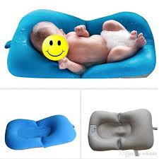 infant baby bath pad non slip bathtub mat new born safety security bath seat support baby shower portable air cushion free dhl bath mats non slip bath mats