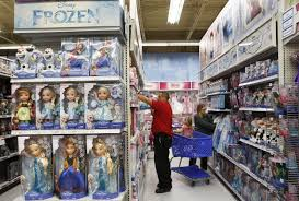 shelves are stocked with frozen merchandise as fast as consumers purchase it at many