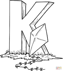 Small Picture Letter K is for Kite coloring page Free Printable Coloring Pages