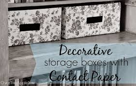 Contact Paper Decorative Designs Over The Apple Tree Decorative Storage Boxes With Contact Paper 77