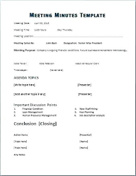 Minutes Sample Format Minutes Template Doc Meeting Of Sample Format Notes Word