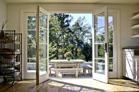 Kitchen French Doors - Open traditional