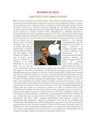 Calameo Resumen De Video Como Steve Jobs Cambio El Mundo Tutoria 3