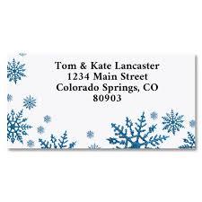 Snowflake Border Return Address Labels