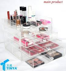 huge makeup organizer portable skincare storage box with drawers bathroom acrylic