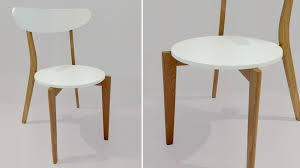 modern dining chair with wooden legs