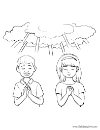 Small Picture Boy And Girl Praying Coloring Page Coloring Home