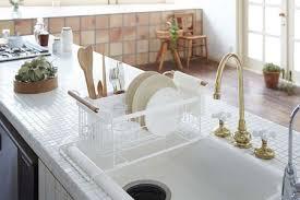 mini white tile countertop