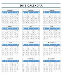 Free Printable Weekly Calendar Template 2015 One Page Yearly