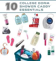 college shower caddy essentials
