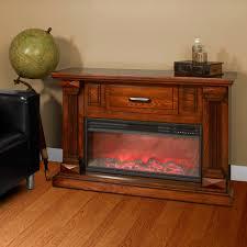 lifesmart fireplace new lifesmart infrared heater fireplace with 48 burnished oak mantle