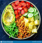 avocado  pineapple  and tomato salad