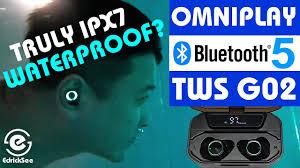 OmniPLAY TWS G02 <b>Bluetooth 5</b> Wireless IPx7 Waterproof ...