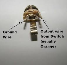 guitar output jack wiring diagram wiring diagram wirig a metal output jack