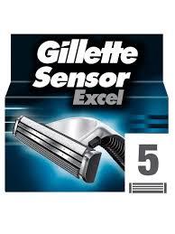 Cменные <b>кассеты</b> для бритья <b>SENSOR Excel</b>, 5 шт. <b>GILLETTE</b> ...
