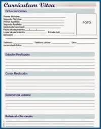 Curriculum Vitae Formato Para Llenar Pdf Gratis Steel