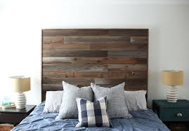 Gorgeous DIY Wooden Headboard with MDF and Stikwood peel-and-stick planks!  See