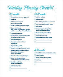 wedding planning checklist template sample wedding planning checklist 7 examples in pdf excel