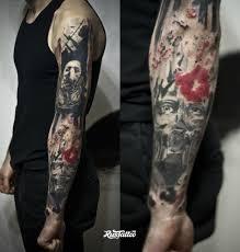 фото татуировки рукав треш полька в стиле трэш полька татуировки