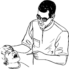 Small Picture Dentist Examining Kid Dental Health Coloring Page Color Luna