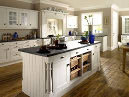 Farmhouse Kitchen Furniture Hardwood Floor Design With Large Island And Pretty White Cabinets In Beautiful Farmhouse Kitchen Plus Roller Window Blindjpg