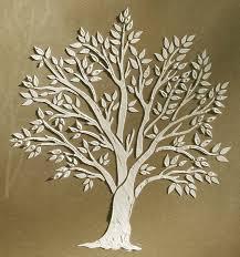 plaster stencil miniature tree