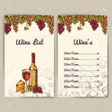 Free Wine List Template Design For Wine List Restaurant Template For Invitation Menu 7