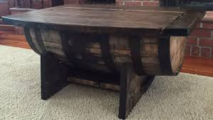 ... Coffee Table, Brilliant Teak Rectangle Rustic Wood Whiskey Barrel  Coffee Table Designs To Setup Living ...