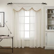 one rod curtains with valance tages one panel modern figure sheer curtain with