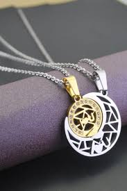 forever sun moon matched pendant couple