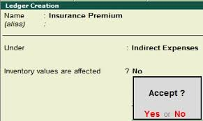 Prepaid Insurance Journal Entry Prepaid Expenses Tally Education