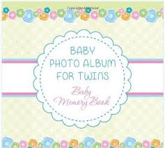 Baby Photo Album Books Twins Photo Album And Memory Book Designed For Twins