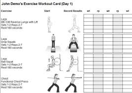 Printable exercise card - SylvesterVu's blog