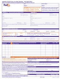 Straight Bol Fedex Straight Bill Of Lading Form Fill Out And Sign