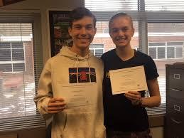 Adam Limoges, Lydia Ware Named National Merit Scholarship Finalists