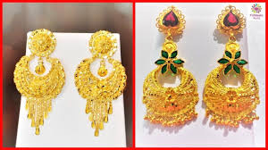 Latest Gold Jhumka Earrings Design With Price In India Latest Gold Jhumka Earrings Designs With Weight Price