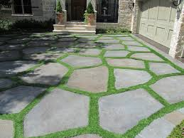 flagstone patio with grass. Conservation Grass Joints Eclectic-landscape Flagstone Patio With
