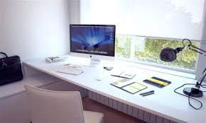 futuristic home office. Amusing Add Futuristic Table Lamp On Modern White Computer Desk Near Chair In Stylish Home Office T