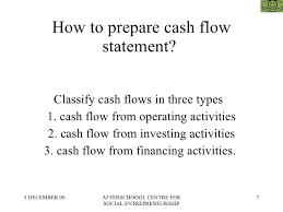 How To Prepare Cash Flow Statement