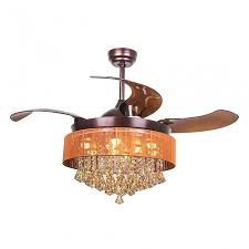 more views 46 inch modern led crystal chandelier ceiling fan