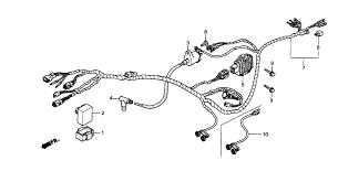 2001 honda fourtrax recon 250 trx250 wire harness parts schematic search results 0 parts in 0 schematics