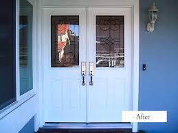 glass double front door. Front Door Hardware Double Doors With Glass Door: Great Therma Tru Entry For