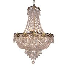 classic lighting regency ii 21 in 8 light roman bronze crystal crystal empire chandelier